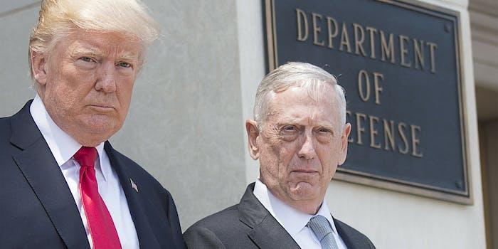 Donald Trump and James Mattis