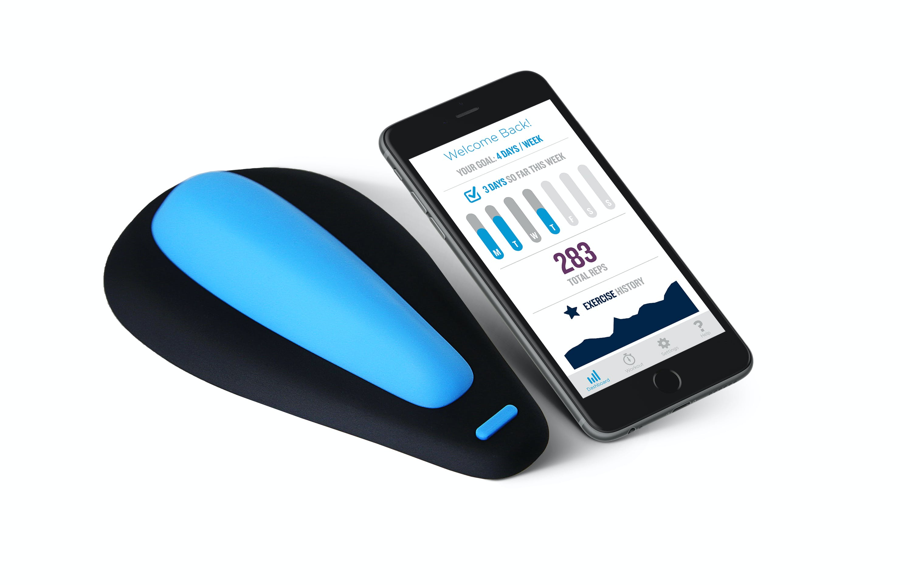 The kGoal Boost and the app that tracks your Kegel progress.