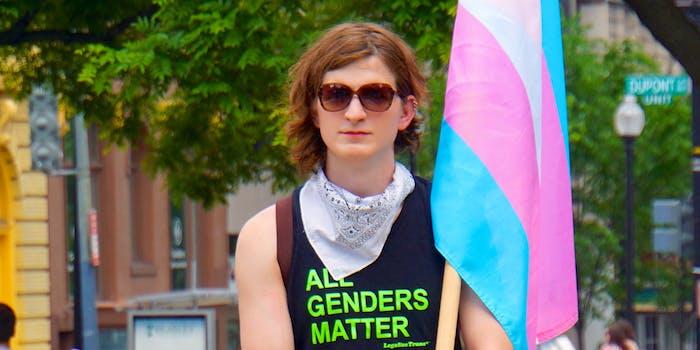 gender identity : Trans Solidarity Rally