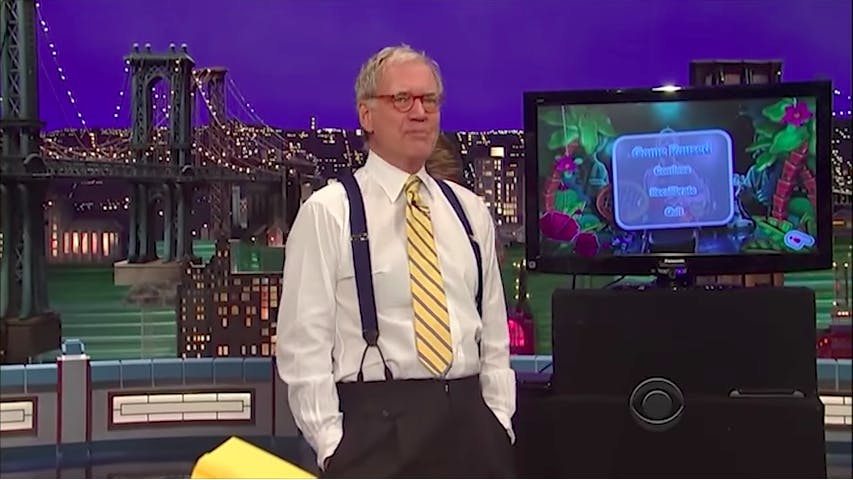 brian collins boom goes the dynamite : david letterman