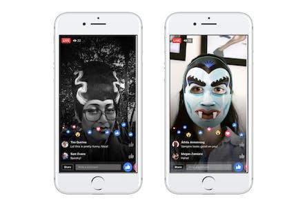 Facebook Live Halloween masks