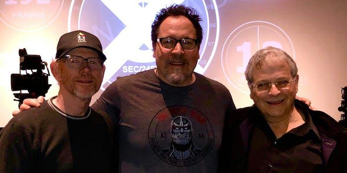 Ron Howard, Jon Favreau, and Lawrence Kasdan