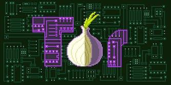 8-bit Tor logo on circuit board