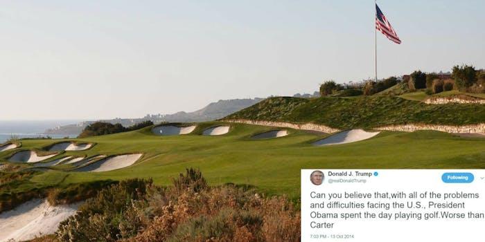 Donald Trump golf presidency