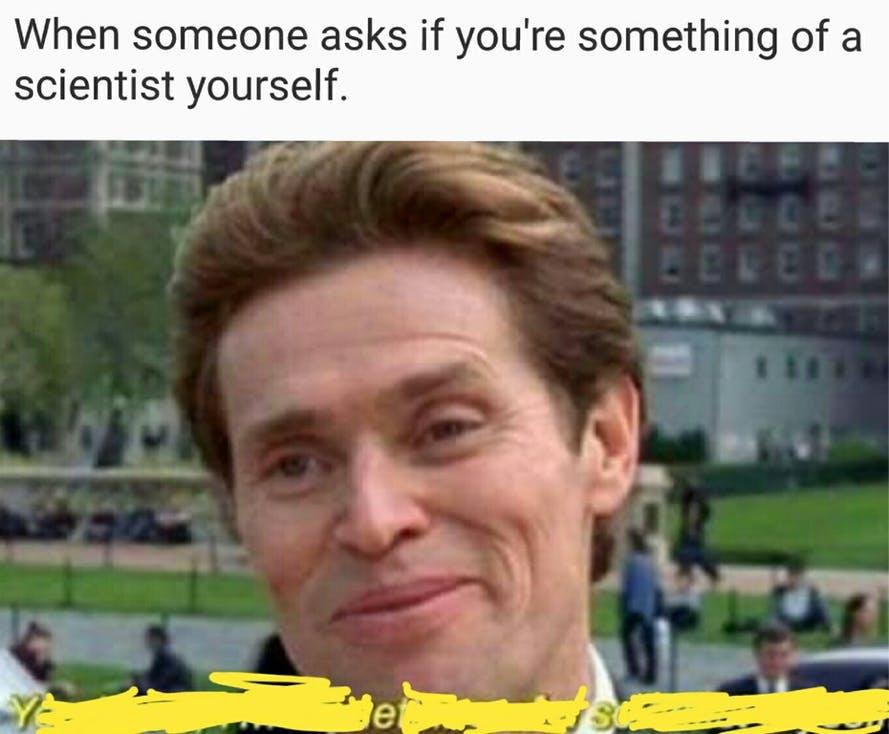 something of a scientist anti-joke