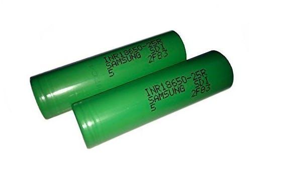 Common 18650 batteries