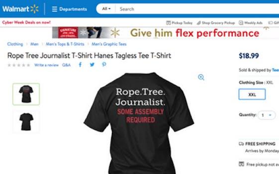 A T-shirt was taken down from Walmart.com after a complaint.