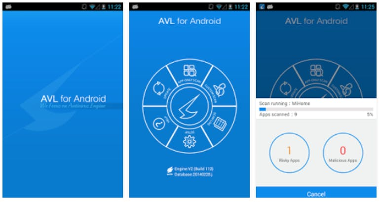 antivirus for android phones free : AVL Android app