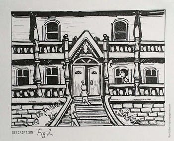 Concept art for Maniac Mansion