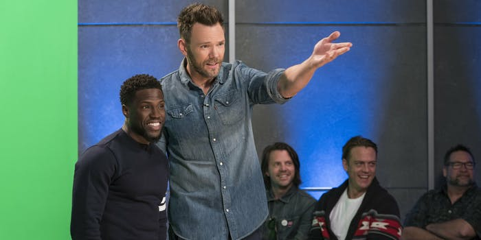 Joel McHale and Kevin Hart