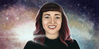 Amy Shira Teitel in space
