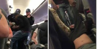 United Airlines security man dragged off plane