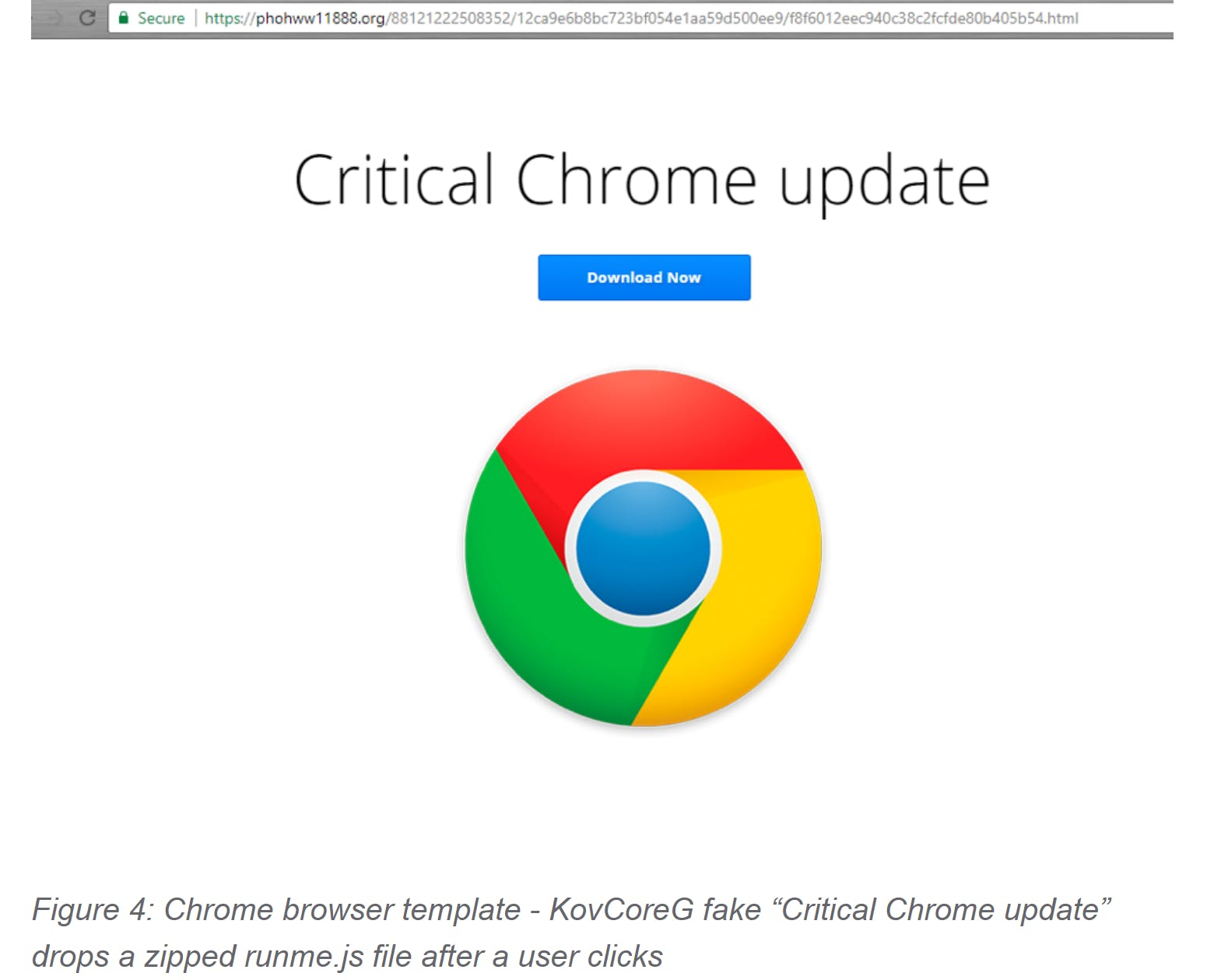 google chrome fake update malware