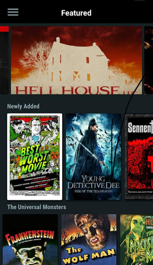 movie app for android : Shudder