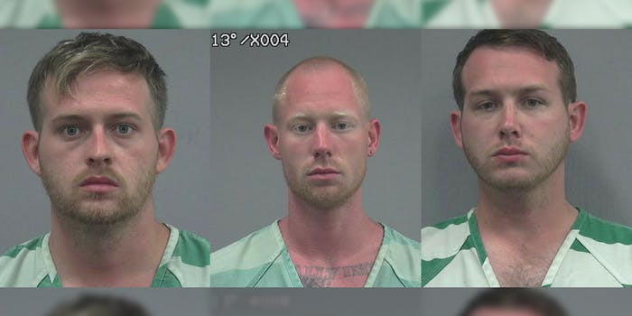 The mugshots of Tyler Tenbrink, William Fears, and Colton Fears