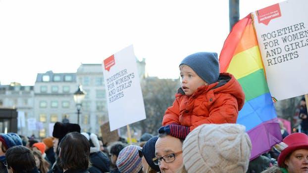 baby protest LGBTQ