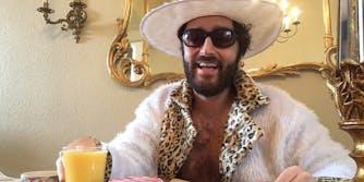 Bitcoin rapper CoinDaddy having breakfast