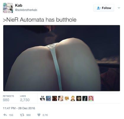 nier automata 2b butt