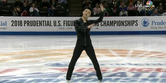 """Jimmy Ma skates to """"Turn Down For What"""" at the 2018 US Nationals"""
