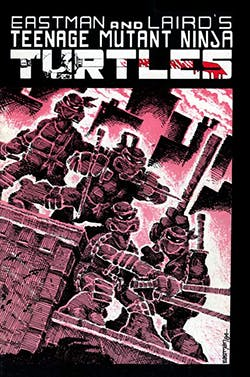 The cover of the first Teenage Muntant Ninja Turtles comic