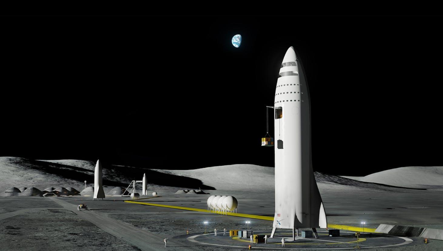 spacex bfr lunar colony