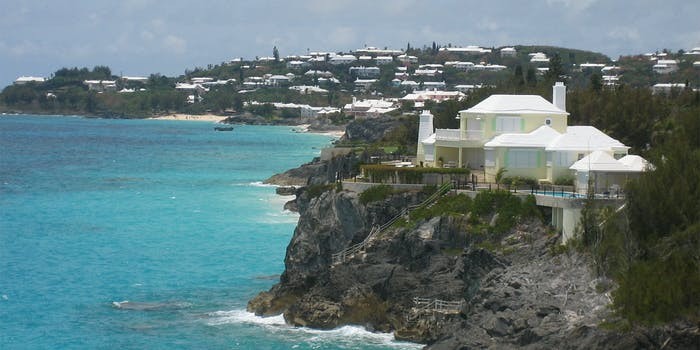 House on cliff in Bermuda