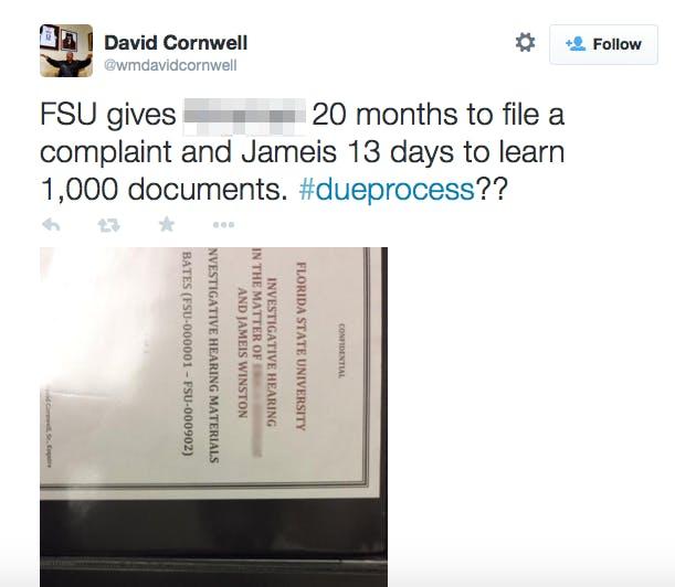 FSU David Dornwell tweet