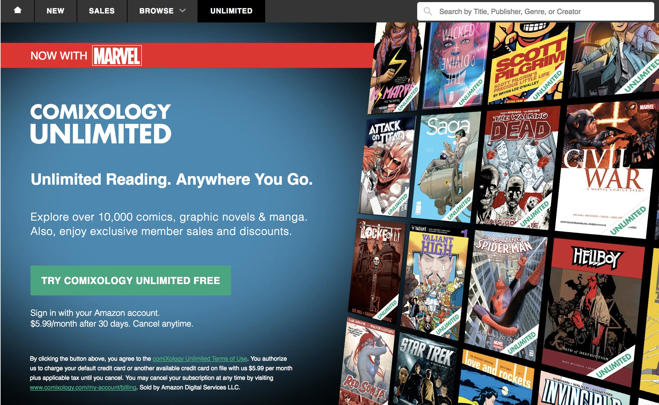 what is comixology unlimited