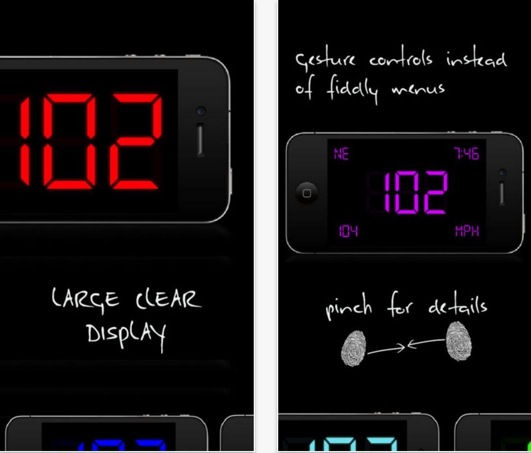 SpeedGlow Speedometer app