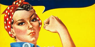 The Rosie the Riveter poster. Naomi Parker Fraley, the Real Rosie the Riveter, has died at 96.