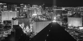 Las Vegas hotels and casinos at night