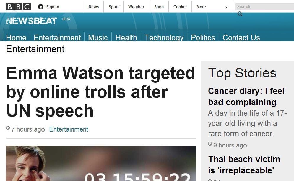 BBC 4chan Emma Watson