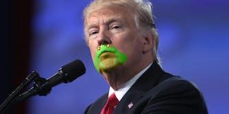 Donald Trump frog chin meme