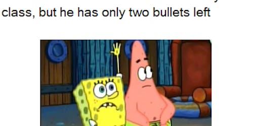 spongebob and patrick want to die