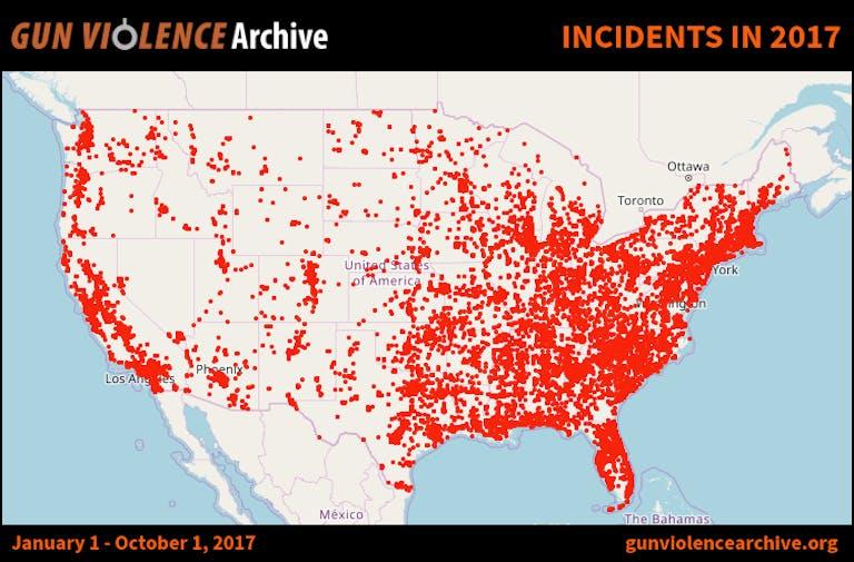 mass shooting tracker 2017 : gun violence archive