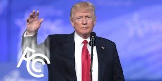 President Trump dropping FCC logo