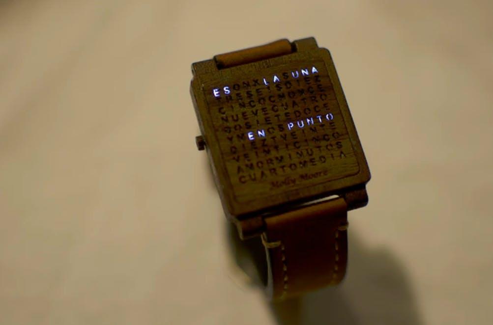 wooden word watch kickstarter diy