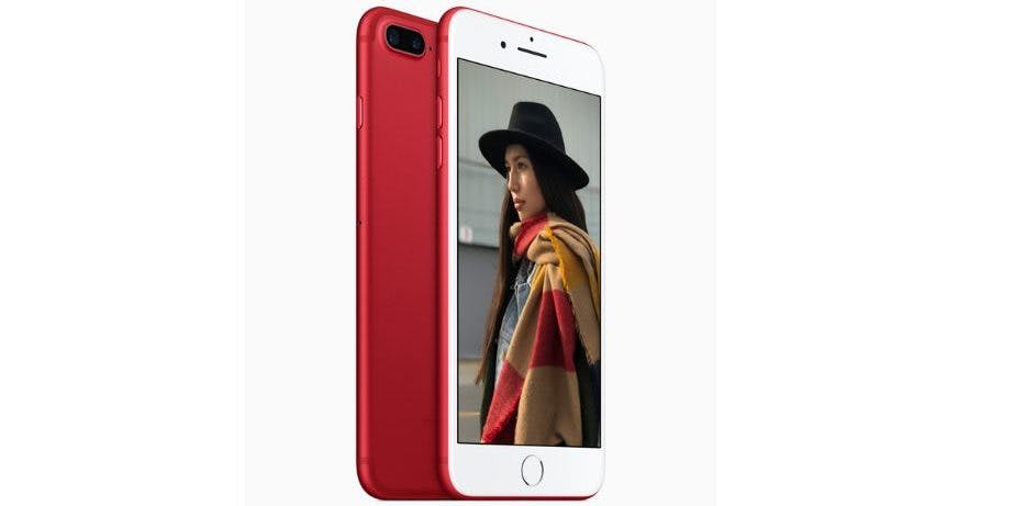 iphone 7 red white front