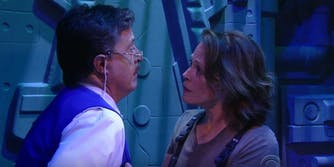 Sigourney Weaver Stephen Colbert Ripley