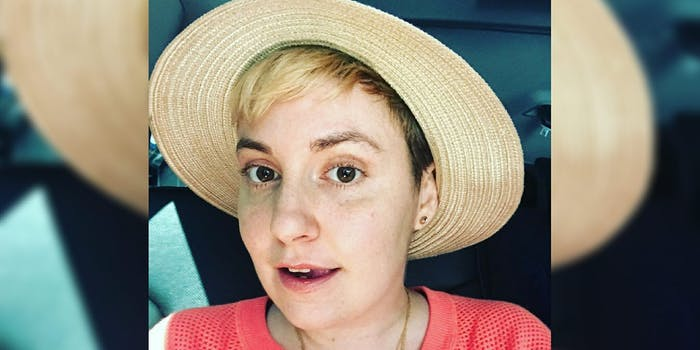 Lena Dunham has defended a 'Girls' writer for allegations of sexual assault.
