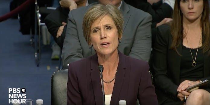 Sally Yates Testifies Before Senate Judiciary Subcommittee
