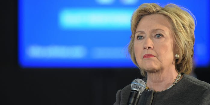 Hillary Clinton Holding Microphone