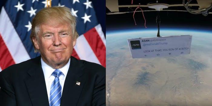 Trump ASAN Space Protest