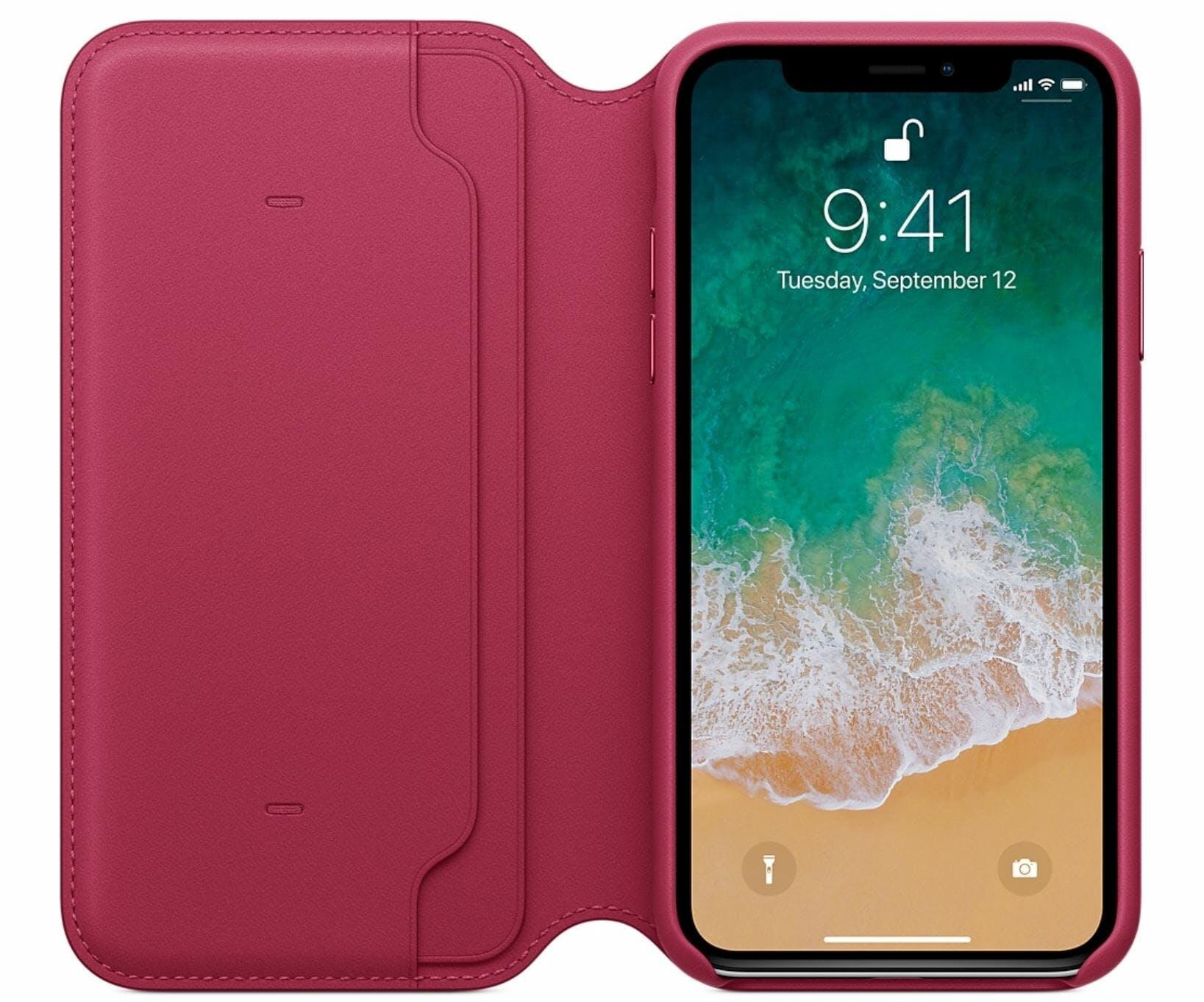 iphone x case leather apple folio