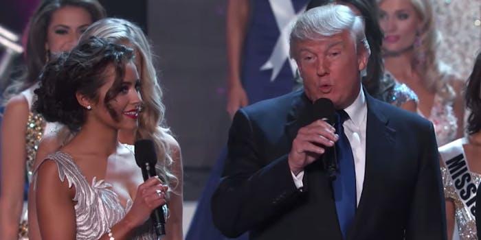 Donald Trump at Miss Universe