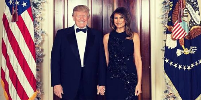 Neither Donald nor Melania Trump posted on social media about their anniversary.