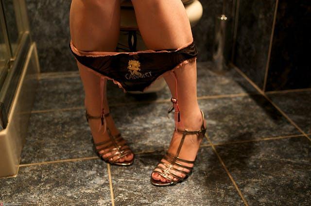 is porn bad: photo of women's restroom