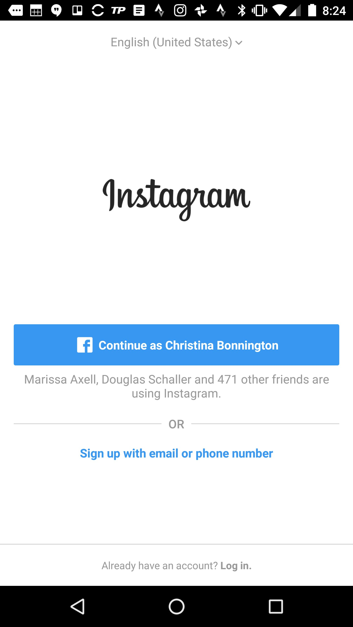 What is Instagram : Instagram sign up page