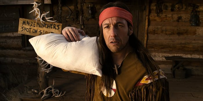 worst netflix movies - Adam Sandler dressed as a Native American in The Ridiculous 6