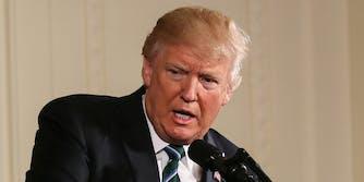 Donald Trump at podium
